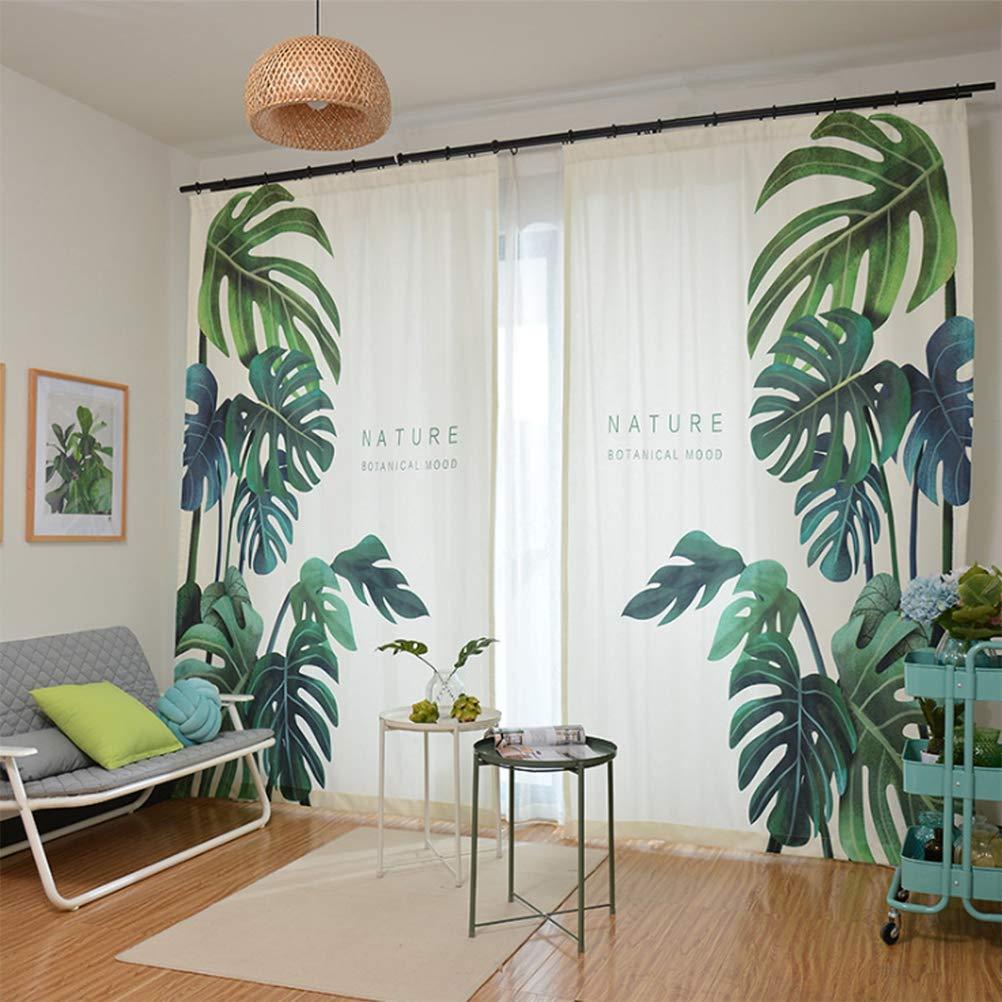 Vorhang Blickdichte Vorhänge Gardinen Wohnzimmer Gardine Mit Ösen Energiespar & Wärmeisolierend Dekoschal Vorhang Polyester-Gewebe,2 * 2.7M