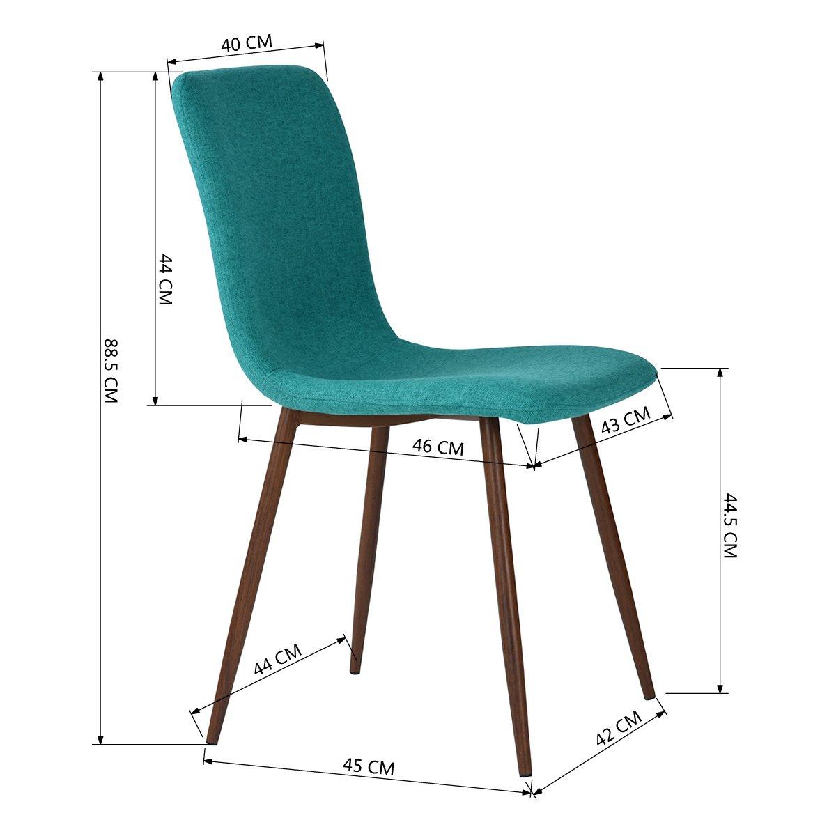 coavas Set von 4 Esszimmerstühle Stoff Kissen Küche Tisch Stühle mit ...