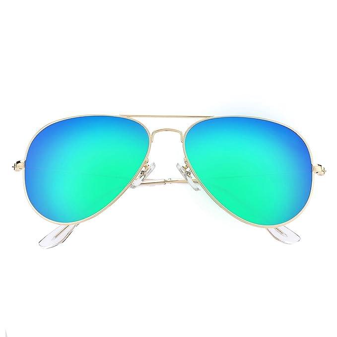 37be4b901c42 LOMEDO Premium Polarized Aviator Sunglasses for Women Green Mirrored W  Flash UV400