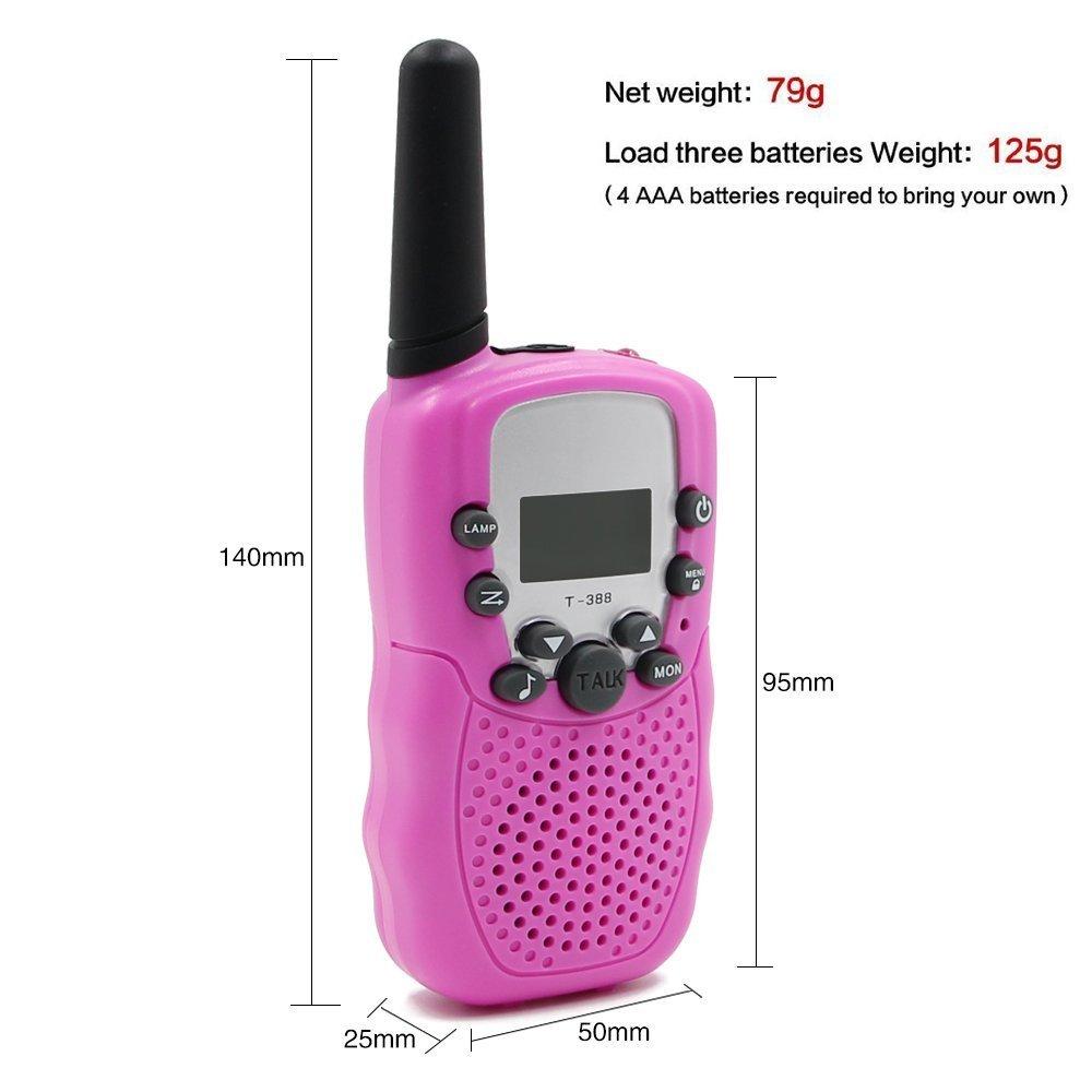 Uping PMR Funkgerät Sprechfunkgerät Walkie Talkie mit LC-Display 2er Set 8 Kanäle Reichweite bis zu 2km (pink) WT200p-2