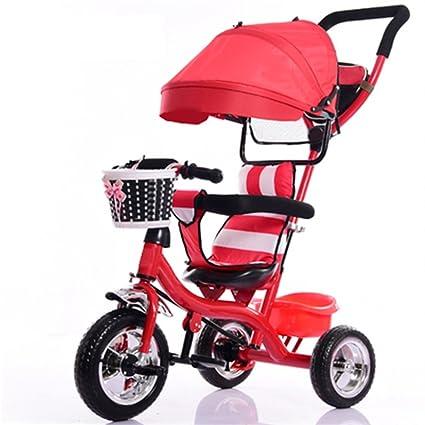 Cochecito de bebé Niños de Interior y al Aire Libre pequeño Triciclo Rueda de plástico sólido ...