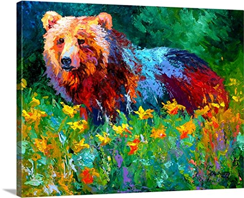 Marion Rose Premium Thick-Wrap Canvas Wall Art Print entitled Wildflower Grizz