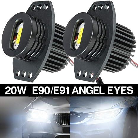 Nuovo BMW Auto 12V Angel Eye Halo Ring Luce Laterale Xeno Bianco Lampadina Led