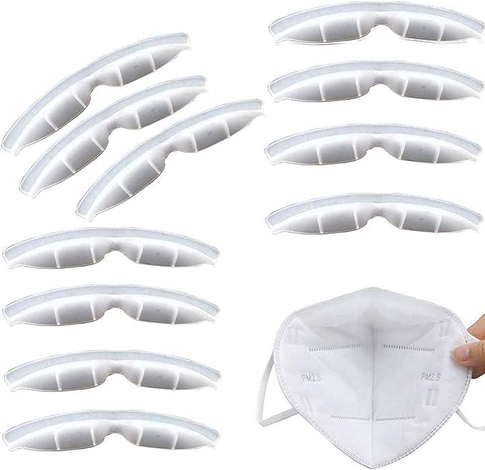 Blue Bulge Prevent Eyeglasses from Fogging Anti-Leakage Increases Breathing Space Help Breathe Smoothly 5 PCS Anti Fog Silicone Nose Bridge Fog-Free Accessory