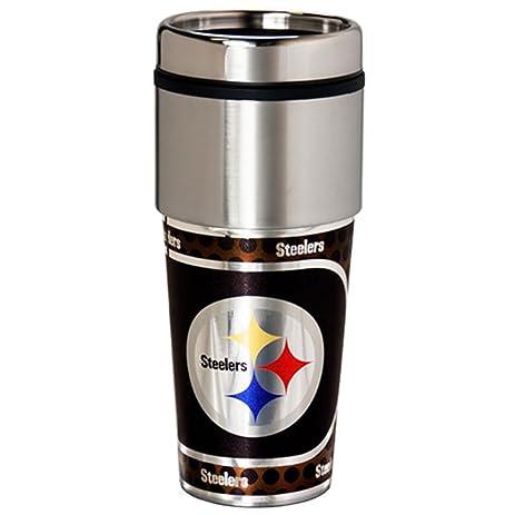 Elegant NEOPlex   Pittsburgh Steelers Travel Mug Tumbler By Great American Products