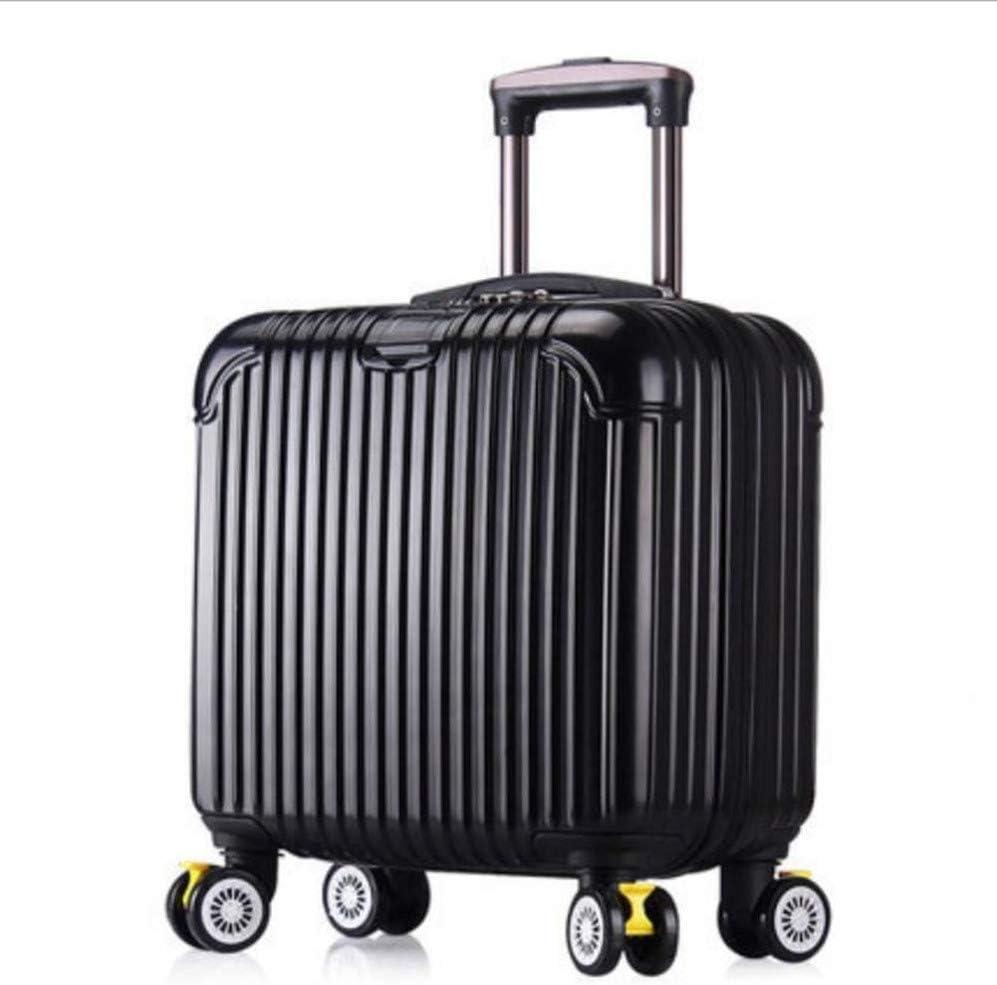 AQWWHY Maletero de 18 Pulgadas con Ruedas Mini maletín de embarque ABS de los Hombres Maleta Liviana de Viaje Caja de contraseña de Viaje Ejecutivo