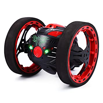 gblife 24ghz wireless remote control jumping rc toy cars for kids no wifi black