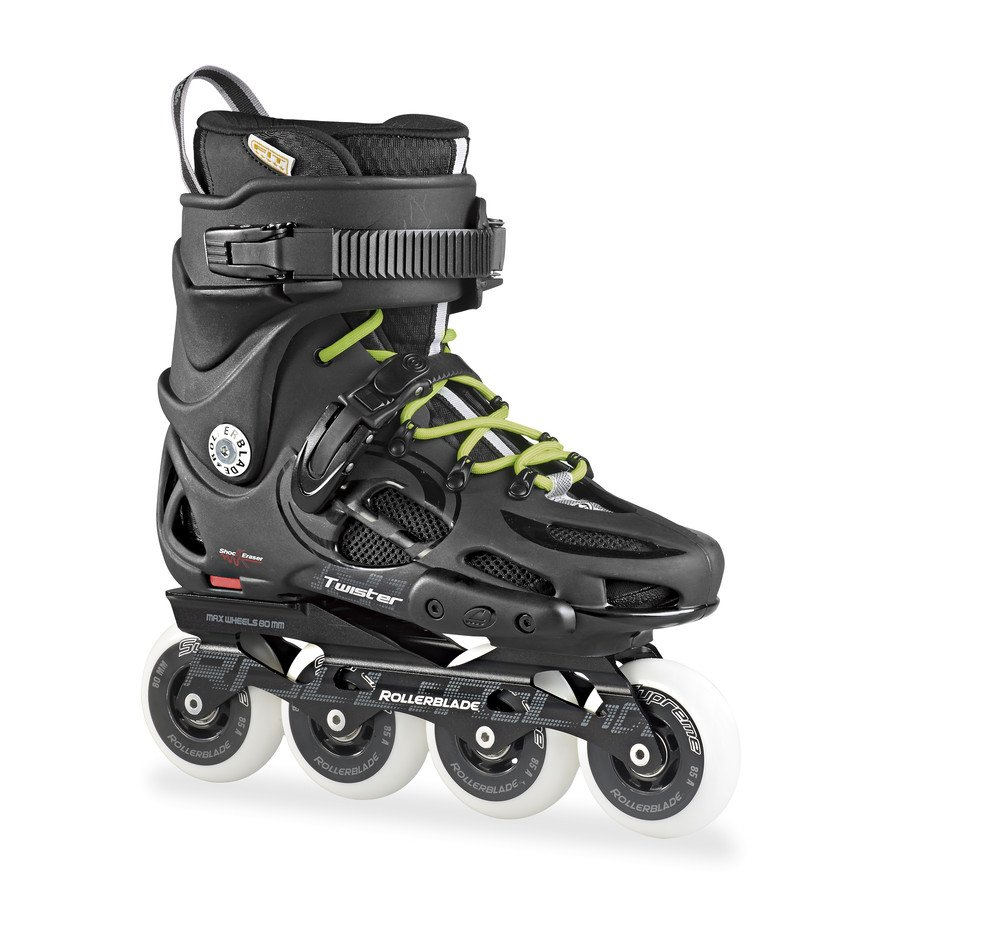 Rollerblade Men's Twister 80 Urban Skate 2015, Black/Green, US 8
