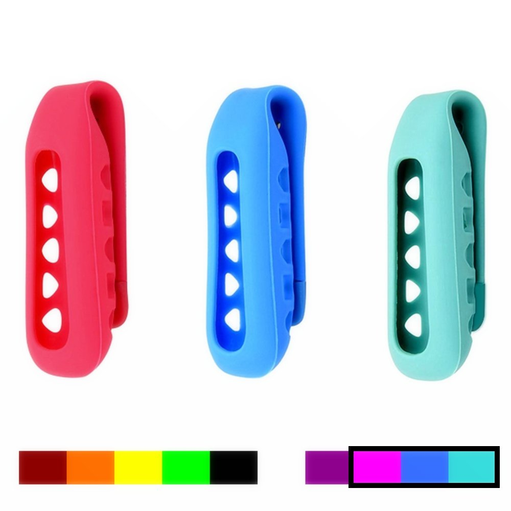Colorful Replacement Clip Holder for Fitbit One Wireless Activity Plus Sleep Tracker (3PCS - ROYAL PINK&BLUE&TEAL)