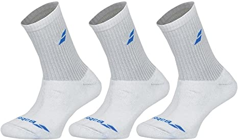 colore: bianco 3 pezzi Calze sportive da badminton Babolat tennis e squash