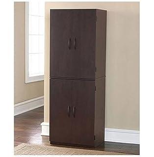 Gracelove Storage Cabinet Kitchen Pantry Organizer Wood Furniture Bathroom  Cupboard Shelf, Cinnamon Cherry
