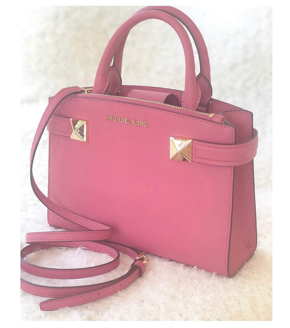 1b650e55de3b Michael Kors Karla SM Satchel Leather Black (35T8MKGS1L)  Handbags   Amazon.com