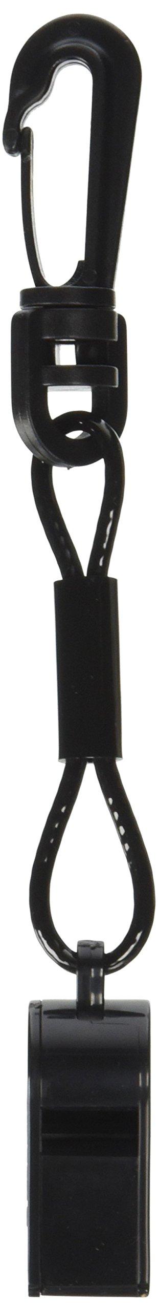 Atlantis A2700-C Black Whistle with Clip