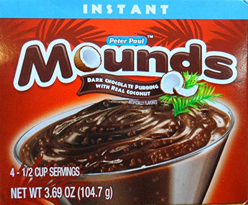 (Mounds Dark Chocolate Pudding With Real Coconut, 3.69 Oz (104.7g) 3-Pack )