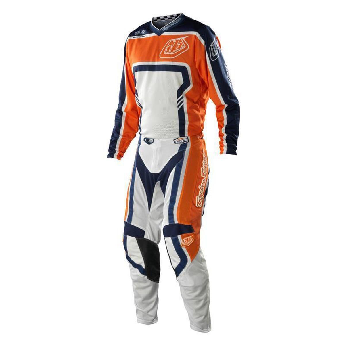 Troy Lee Designs TLD GP Air Factory Gear Set Orange Navy White Jersey and Pants Combo (Medium Jersey/32 Pants)