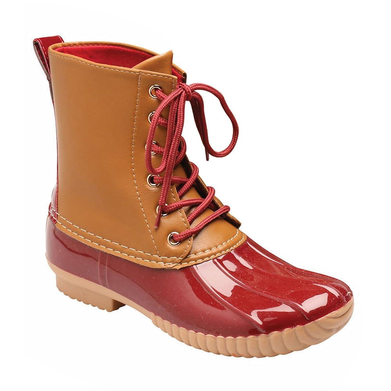 Women's Avanti Rosetta Lined Duck Style Rain Boots - Red - Size 10