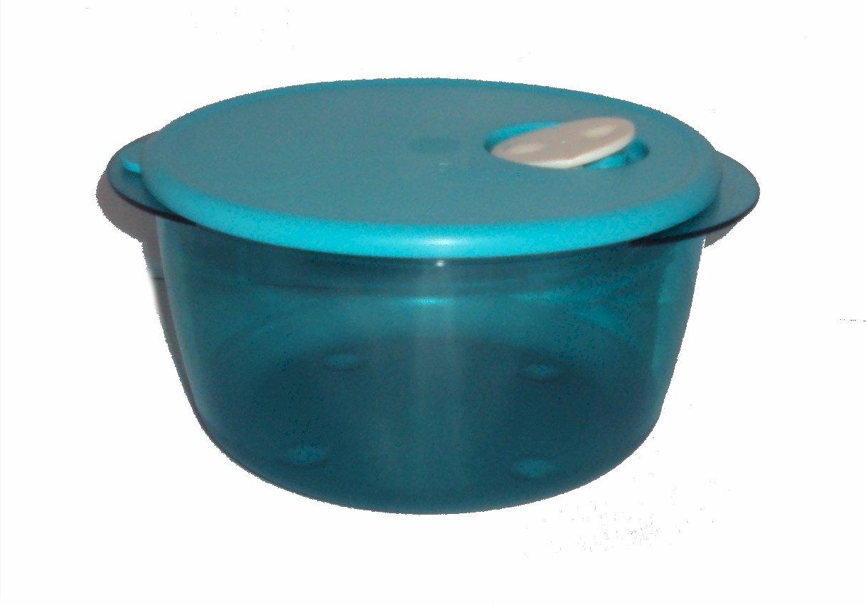 Tupperware Rock N Serve 2 Quart Round Azure Blue 2L