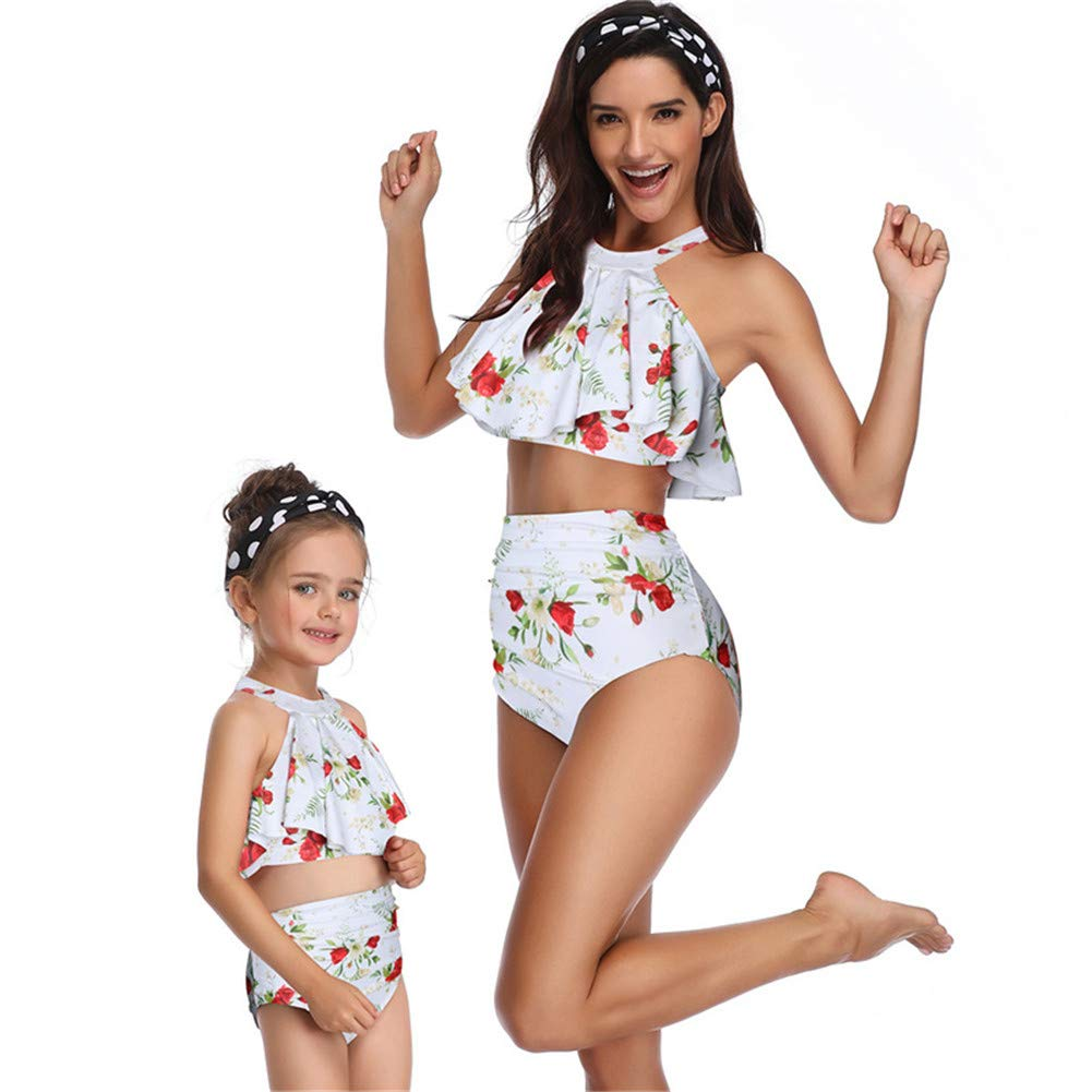 Two-Piece Girl Swimsuit ZPPDL Fancy Mother and Daughter Swimsuit Family Matching Swimsuit