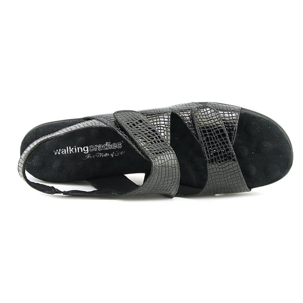 Walking Cradles Orwell Women's Sandal B06WWL98Y9 7.5 2A(N) US|Black-alligator