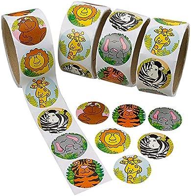 Howaf 300 Piezas Animales Pegatinas para niños, Pegatinas Infantiles Recompensa para piñata Niños Infantiles Fiesta de cumpleaños Regalo, Scrapbooking