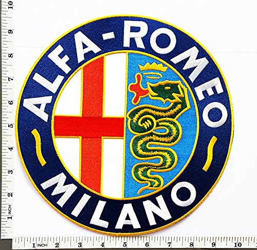 Big Jumbo Large Big Huge Jumbo ALFA ROMEO Motorsport Racing Team patch Jacket T-shirt Sew Iron on Patch Badge Embroidery