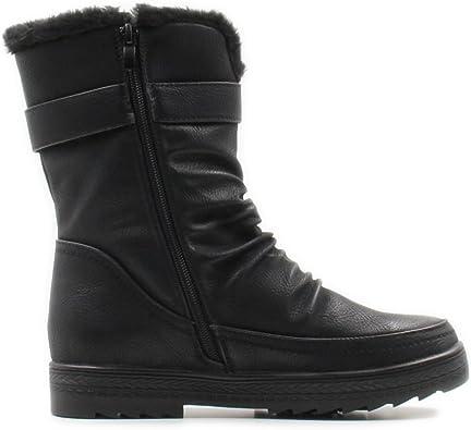 Side Zipper Warm Shoes   Mid-Calf
