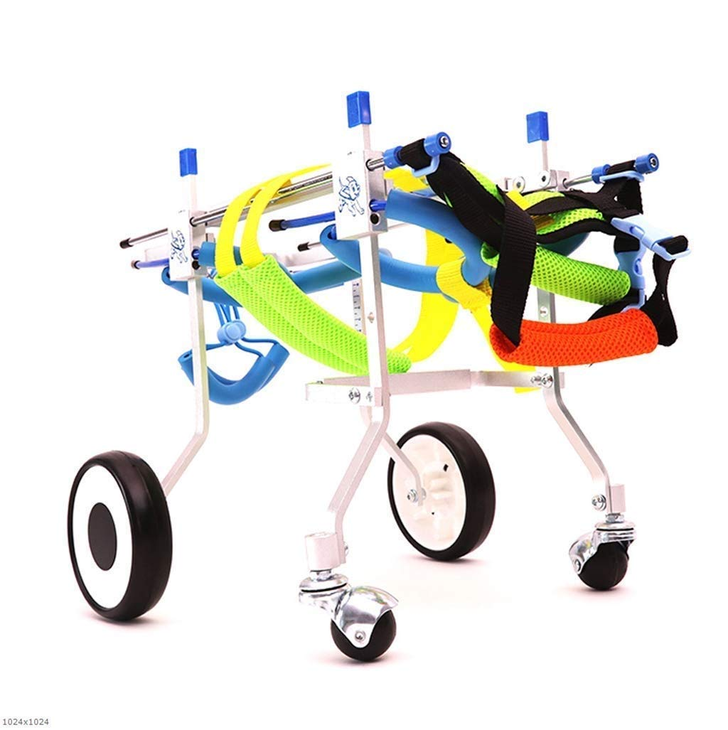 L Pet Moped,4-Wheel Medical Dog Wheelchair Size Adjustable Pet Wheelchair Cart Assisted Hind Leg Sports Car (Size   L)