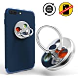 Cellphone Ring Stands Finger Holder, Knob Portion Function for Smart Cellphone Mount (Silver)