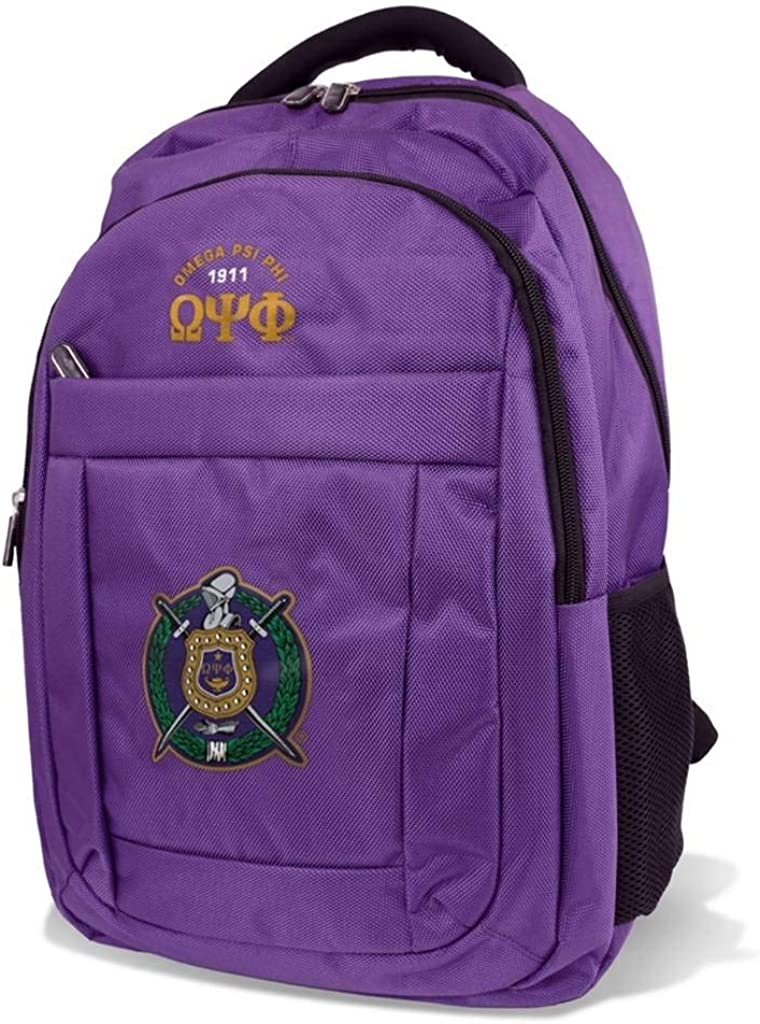 Omega Psi Phi Fraternity Men's Backpack Purple