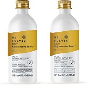 100% Natural Fulvic Acid by NZ Fulvic, Extracted & Made in New Zealand, Organic, Mineral Rich Blend, Liquid Food Supplement, 16.9 fl oz (Twin Pack)