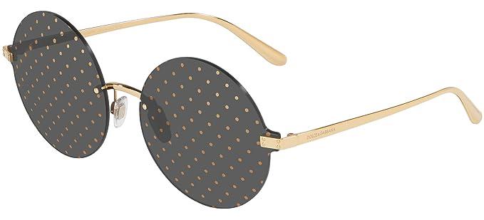 Gafas de Sol Dolce & Gabbana LOGO PLAQUE DG 2228 GOLD/GREY ...