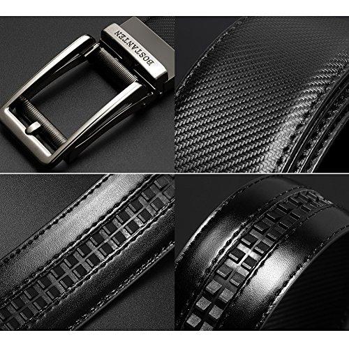 Homme Réglable Ceintures Automatique Ceinture Jeans Noir 4 Bostanten Sangle Cuir noir Boucle 60Swd6Fq