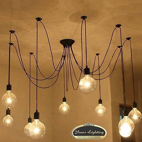 Sol Run luces Vintage araña colgante iluminación de techo ...
