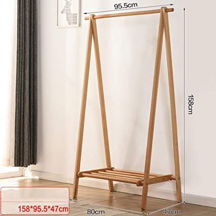 Amazon.com: MEIDUO Clothes Stand Wood Garment Rack 2-Tire ...