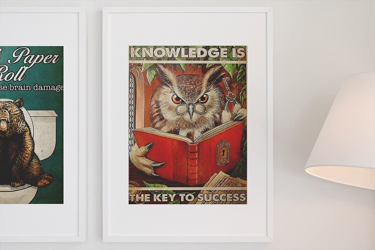 Knowledge is the key to success poster