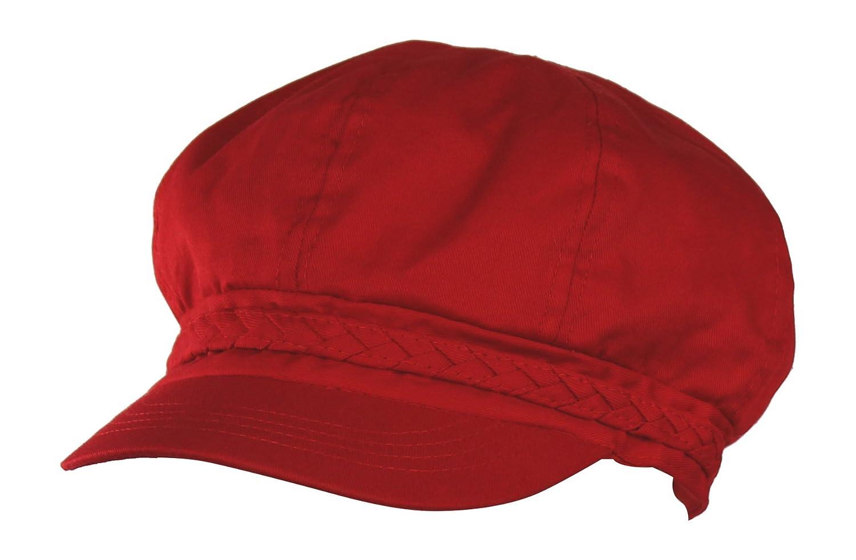 Folie Co. Spring & Summer Cotton Cabbie Hat w/Braided Band – Lightweight newsboy IVY Cap