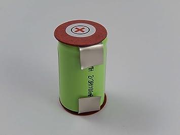 vhbw Batería NiMH 1100mAh (1.2V) para afeitadora Braun 3550, 5556 ...