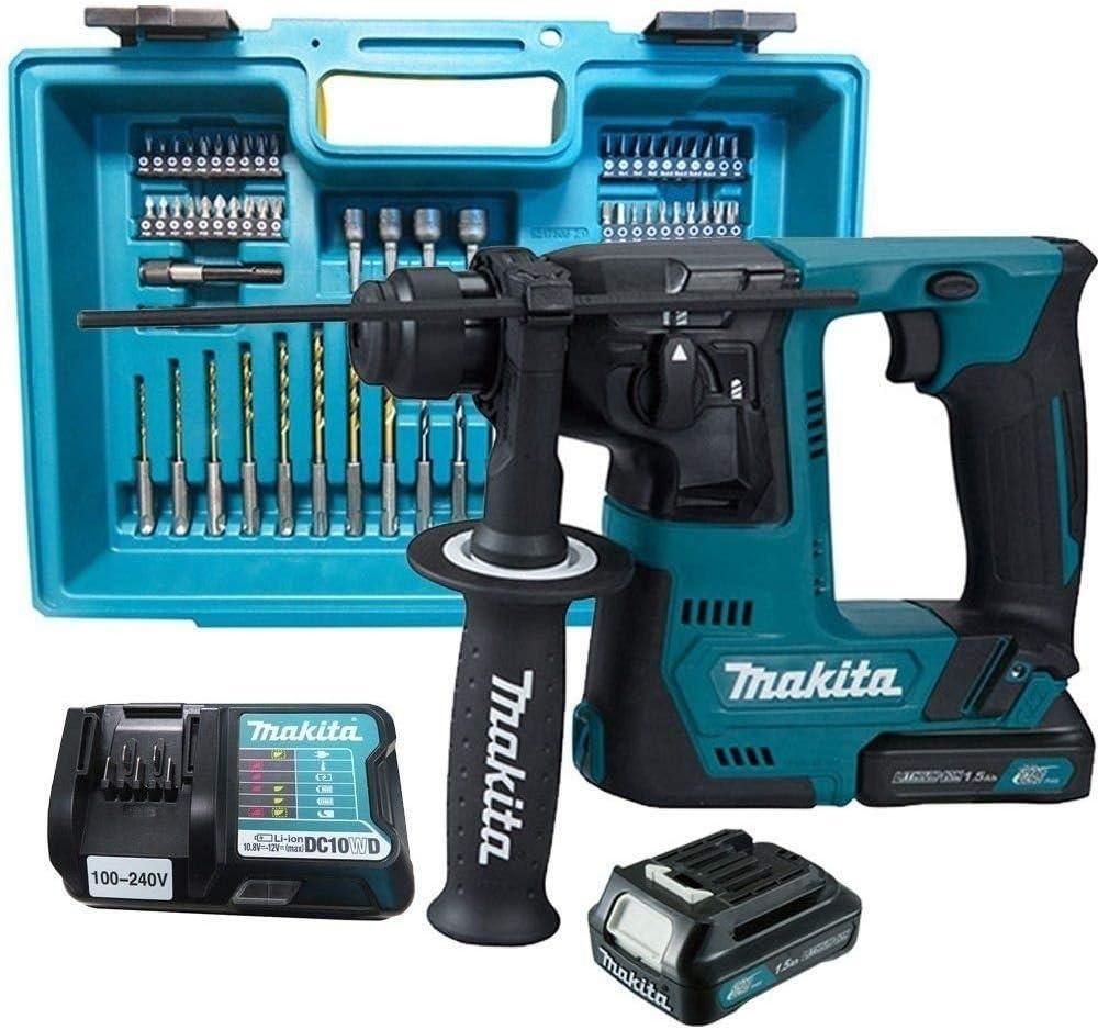 Makita HR 140 dsae 1 batería-taladros percutores para SDS-Plus 12v max * 2 baterías cargador *