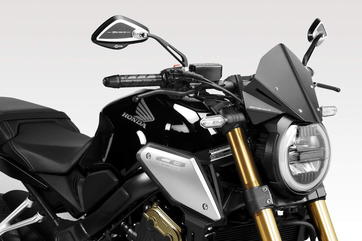 Hardware Bolzen Enthalten - 100/% Made in Italy Motorradzubeh/ör De Pretto Moto Windschutzscheibe Warrior CB650R 2019 DPM - Aluminium Windschild Windabweiser Scheibe R-0916