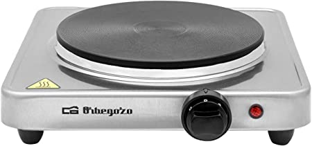 Orbegozo PE 2910 - Placa eléctrica, termostato regulable, 1500 W, acero inoxidable