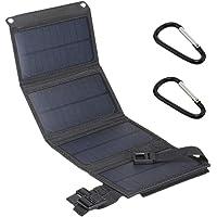 JVSISM 15W 5V 2A EnergíA Solar Usb Panel Solar Plegable Acampada Senderismo Cargador de TeléFono-Negro