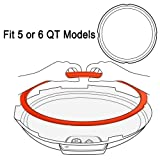 3 IN 1 SET Silicone Sealing Rings for Instant Pot 5 or 6 Quart (Sweet & Savory Edition), 9 inch (23cm) Clear Ideal Designed Tempered Glass Lid, Free Over 1000 Recipes E-Book,Instant Pot Accessories