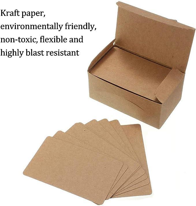 8,5 x 5 cm NBEADS 150 Tarjetas de Papel Kraft en Blanco//Tarjetas de Negocios//Tarjeta de Palabra//Tarjeta Postal DIY//Tarjeta de Mensaje Tarjeta de Regalo DIY