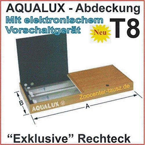 TAB AquaLux Rechteck Abdeckung 100x50cm T8 2x30Watt Aquarium Beleuchtung Abdeckleuchte