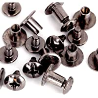 15 unidades n/íquel cuero para manualidades zapatos micoshop 15 piezas de remaches de tornillo de punta pir/ámide cuadrado bolso de mano