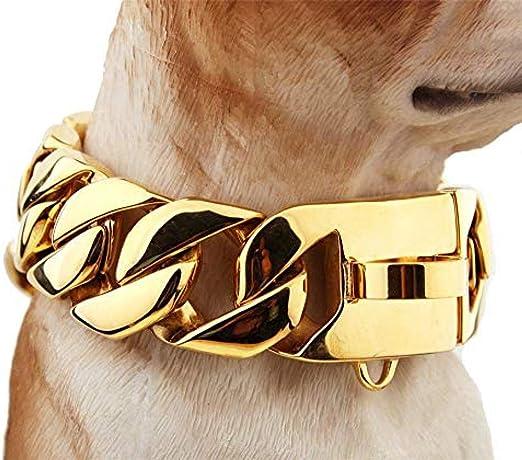 collares para perros elegantes Collar Doberman de metal de 30 mm ...