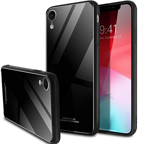 finest selection 777b2 73eee Amazon.com: iPhone Xr Case,SQMCase 9H Tempered Glass Back Slim Fit ...