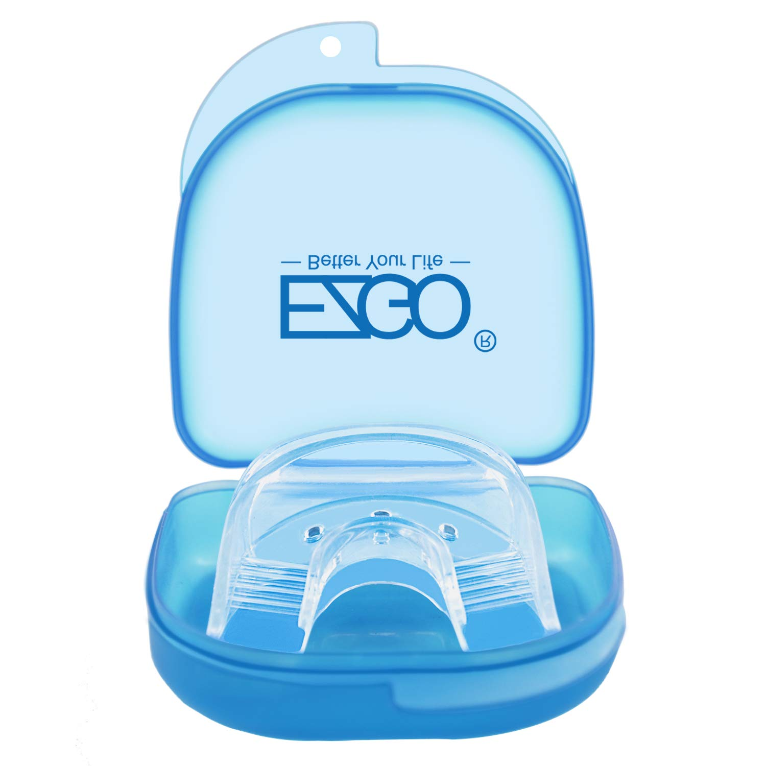 EZGO Teeth Whitening Trays Silicone Tray, Works with Tooth Whitening Light and Bleaching Gel, Comfort fot all mouth, Mouth Night Guard for Grinding Teeth, Dental Grade, Retainer Case