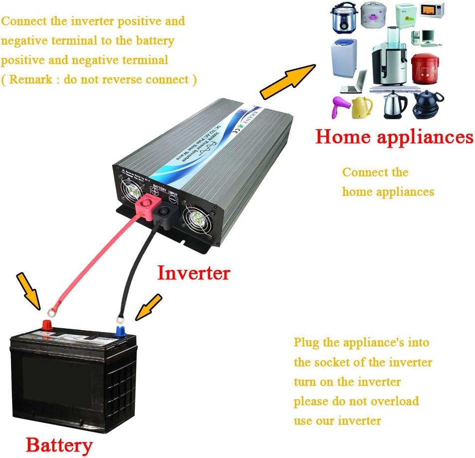 KRXNY 3000W Off Grid Pure Sine Wave Power Inverter 48V DC to 110V 120V AC 60HZ with LCD Display