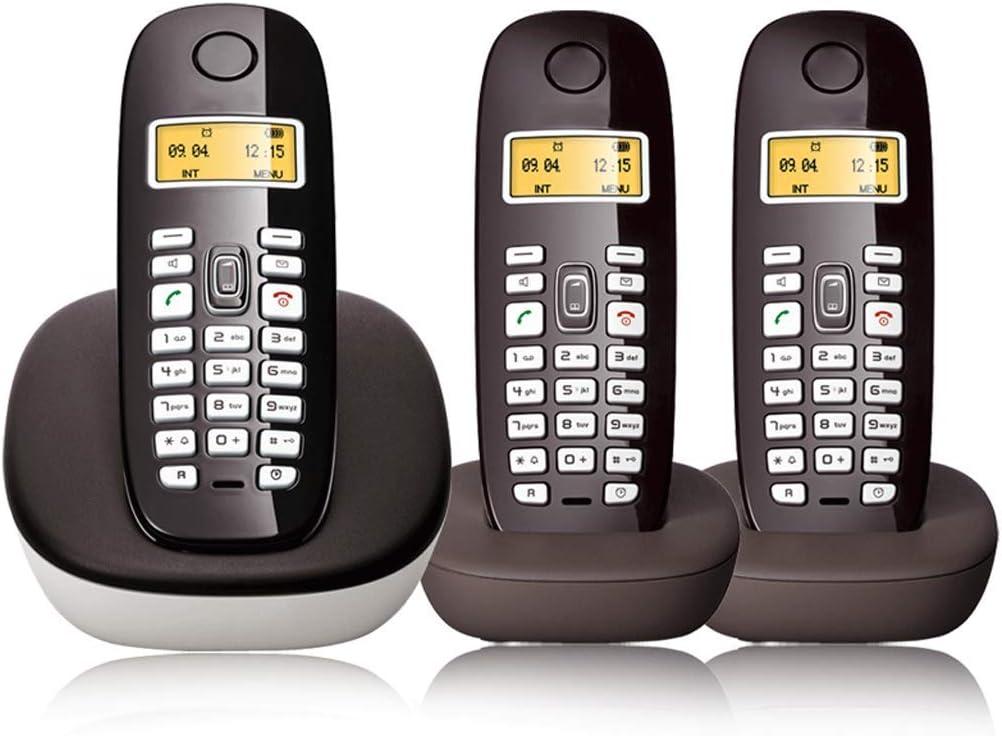 ZHJING Teléfono Retro Inalámbrico de Línea Fija Personalidad Creativa y Conveniente Teléfono Inteligente (Color : Negro, Tamaño : B Style): Amazon.es: Hogar